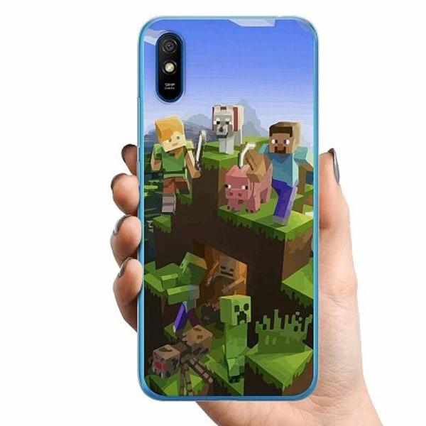 Xiaomi Redmi 9A TPU Mobilskal MineCraft