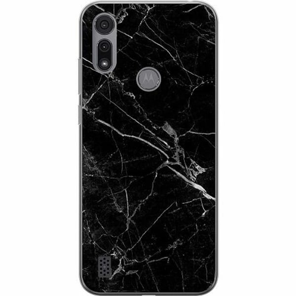 Motorola Moto E6i Thin Case black marble