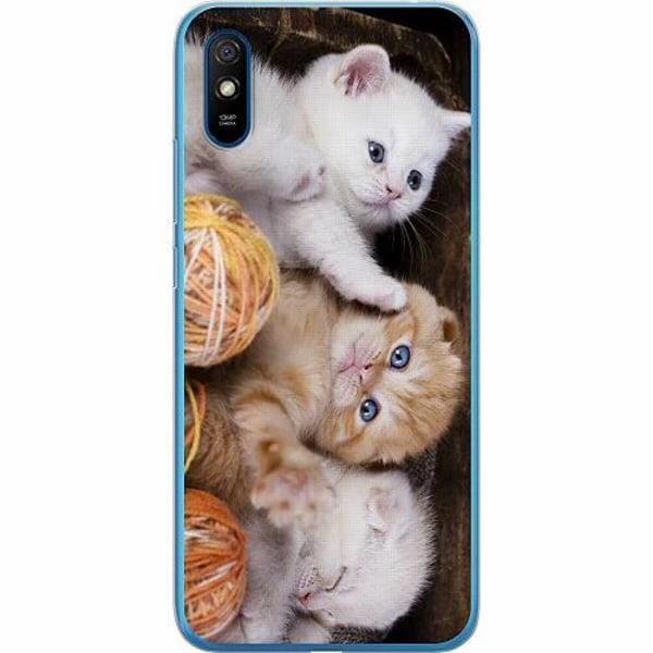 Xiaomi Redmi 9A Thin Case Kittens and Yarn