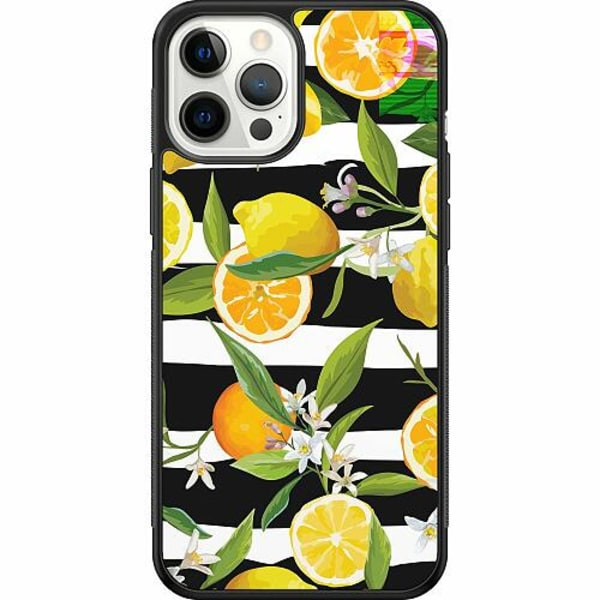 Apple iPhone 12 Pro Max Soft Case (Svart) Lemon Party
