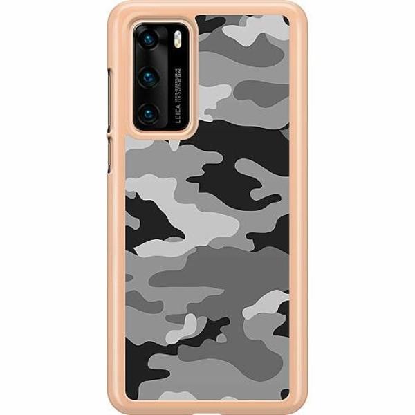 Huawei P40 Hard Case (Clear) Military B/W