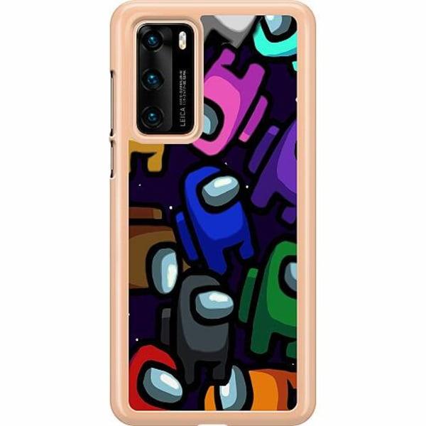 Huawei P40 Hard Case (Clear) Among Us