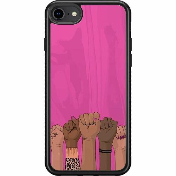 Apple iPhone 7 Soft Case (Svart) International Women's Day
