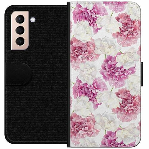 Samsung Galaxy S21 Wallet Case Fluffy Flowers