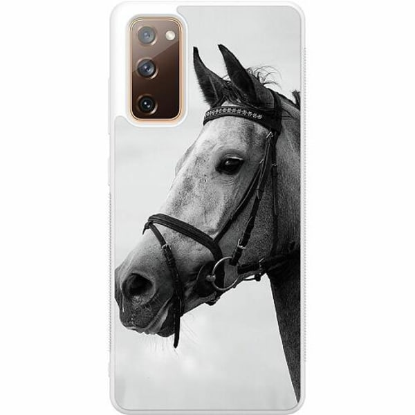 Samsung Galaxy S20 FE Soft Case (Vit) Häst