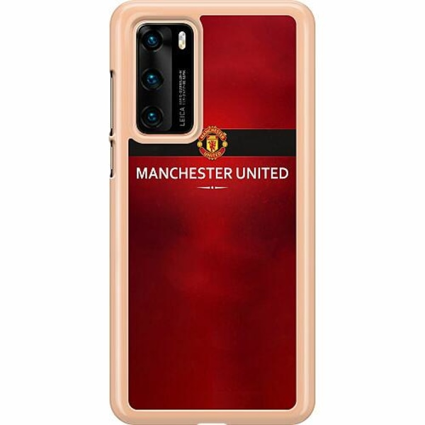 Huawei P40 Hard Case (Clear) Manchester United