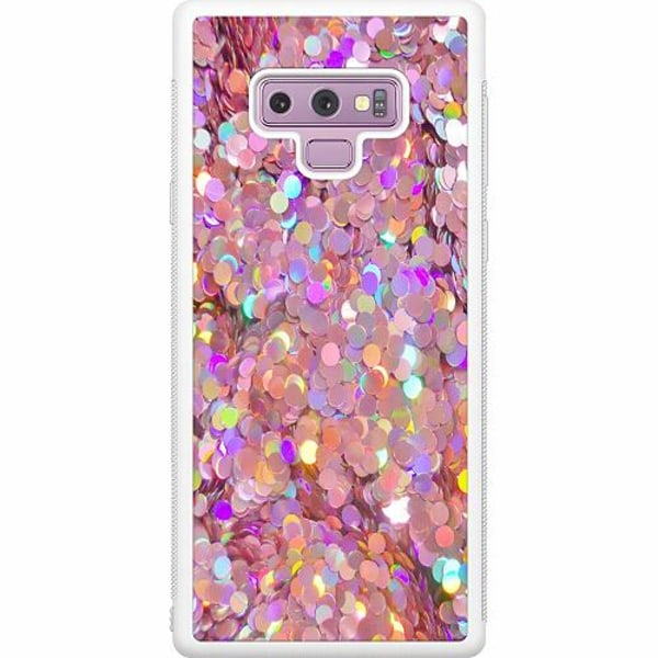 Samsung Galaxy Note 9 Soft Case (Vit) Glitter