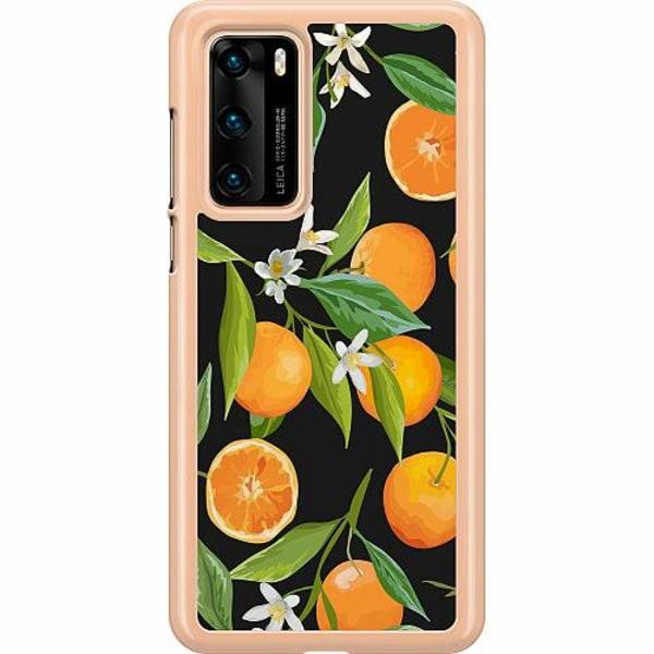 Huawei P40 Hard Case (Clear) Orange Juice
