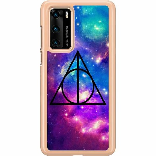 Huawei P40 Hard Case (Clear) Deathly Hallows