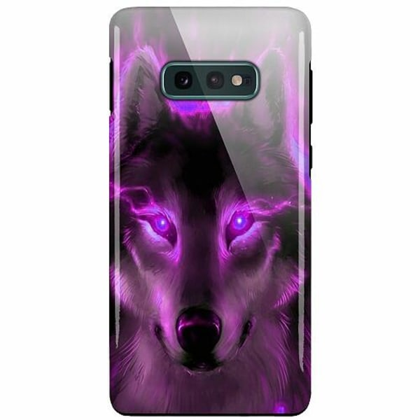 Samsung Galaxy S10e LUX Duo Case (Glansig)  Statement Wolf 1055