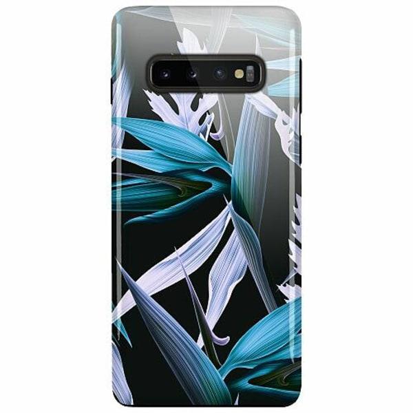 Samsung Galaxy S10 Plus LUX Duo Case (Glansig)  Blue Flower