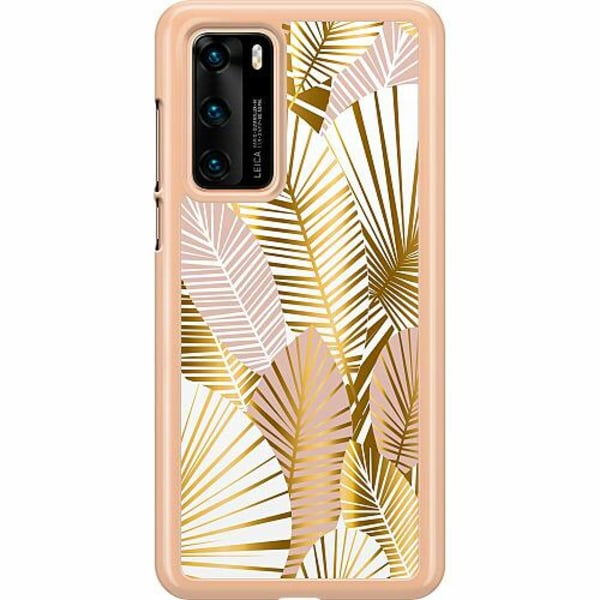 Huawei P40 Hard Case (Clear) Gold