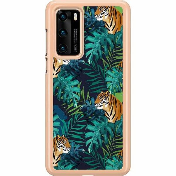 Huawei P40 Hard Case (Clear) Tiger