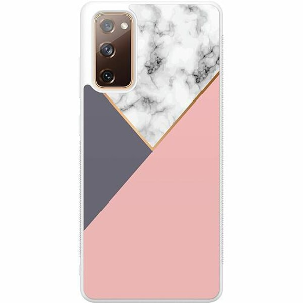Samsung Galaxy S20 FE Soft Case (Vit) Marble Cut