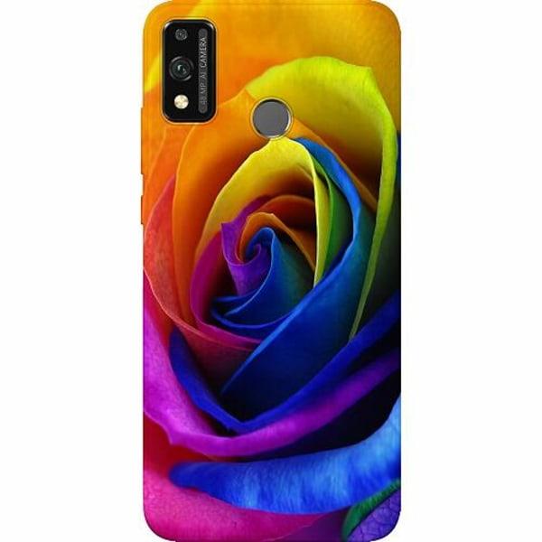 Huawei Honor 9X Lite Thin Case Rainbow Rose
