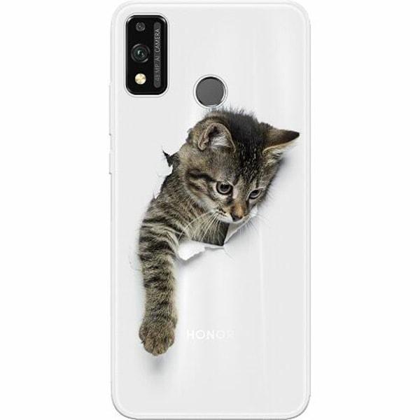 Huawei Honor 9X Lite Thin Case Curious Kitten