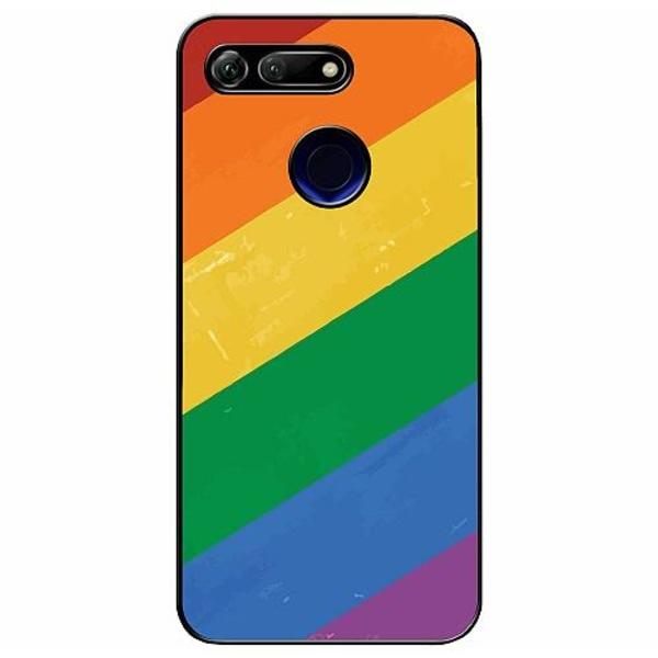 Huawei Honor View 20 Soft Case (Svart) Love is Love - Pride