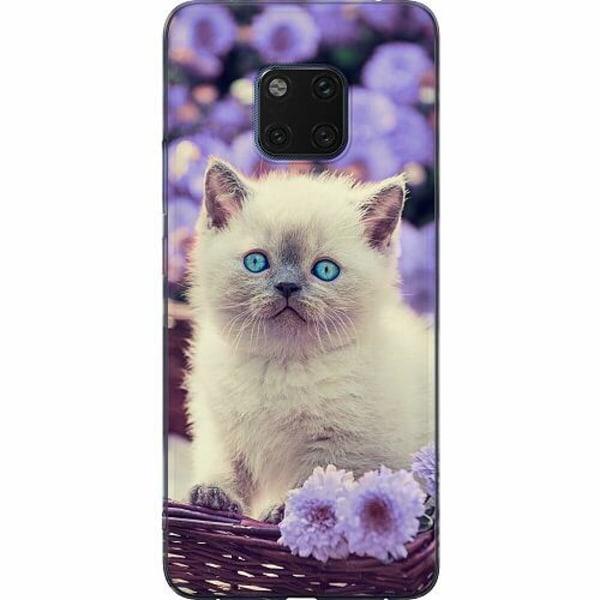 Huawei Mate 20 Pro Mjukt skal - Cute Kitten