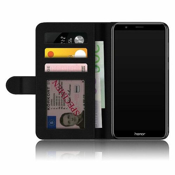 Huawei P Smart (2018) Fodralskal black marble