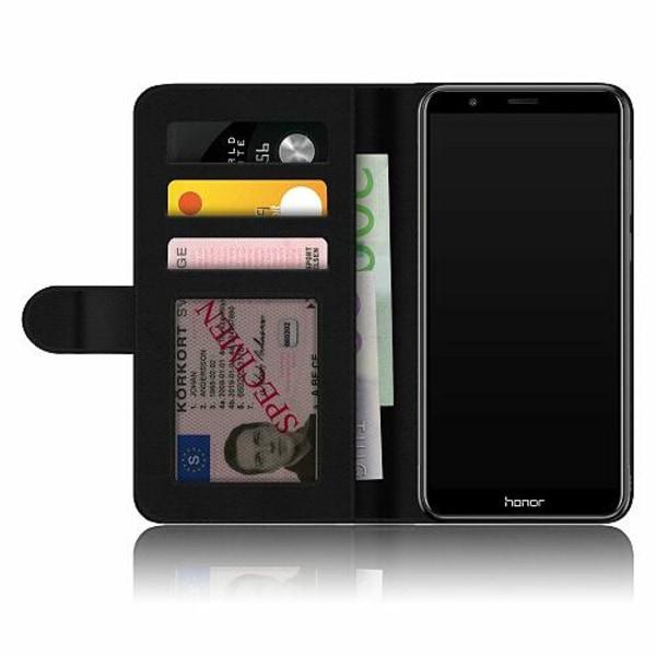Huawei P Smart (2018) Fodralskal Rainbow Rose