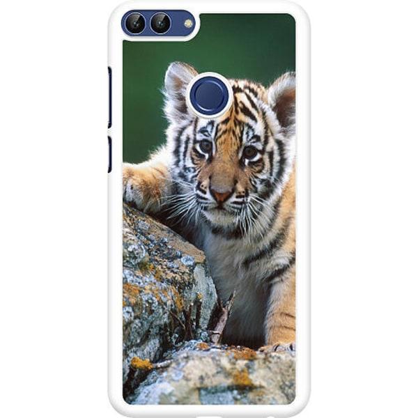 Huawei P Smart (2018) Hard Case (Vit) Tiger