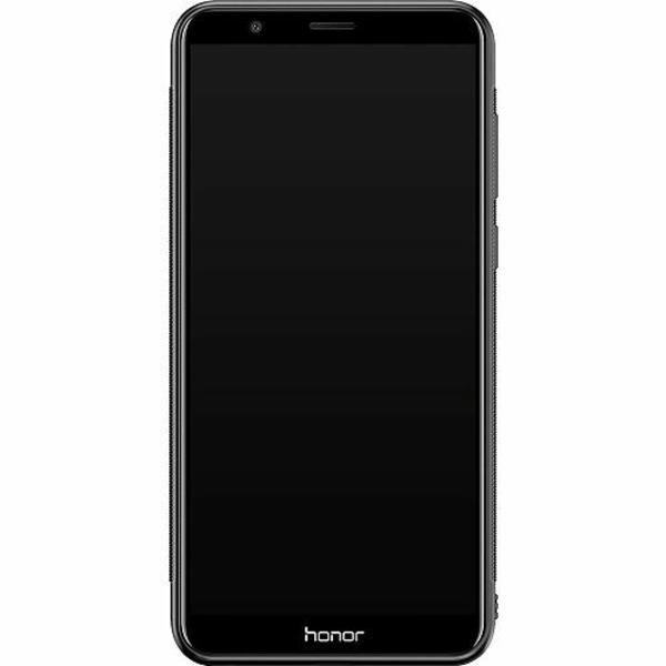 Huawei P Smart (2018) Soft Case (Svart) Blommor