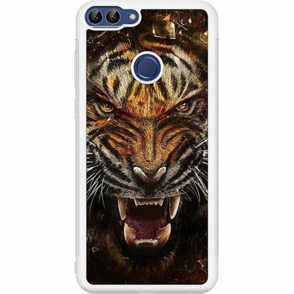 Huawei P Smart (2018) Soft Case (Vit) Angry Tiger