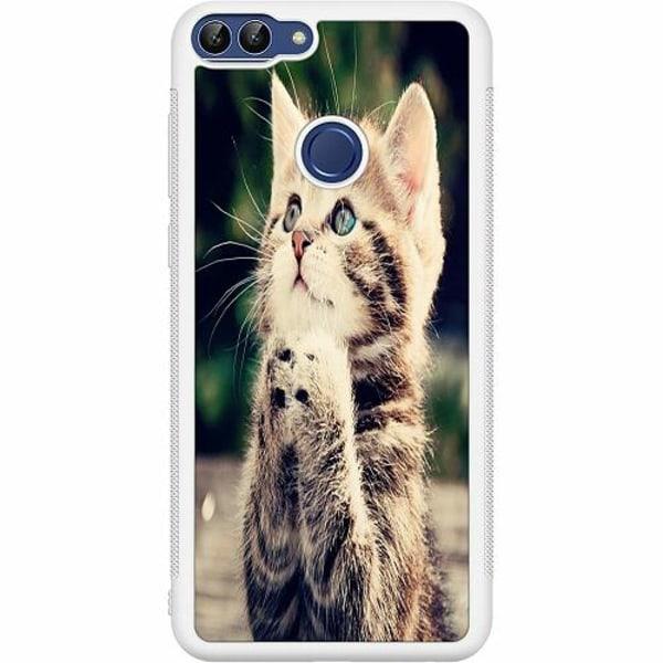 Huawei P Smart (2018) Soft Case (Vit) Katt