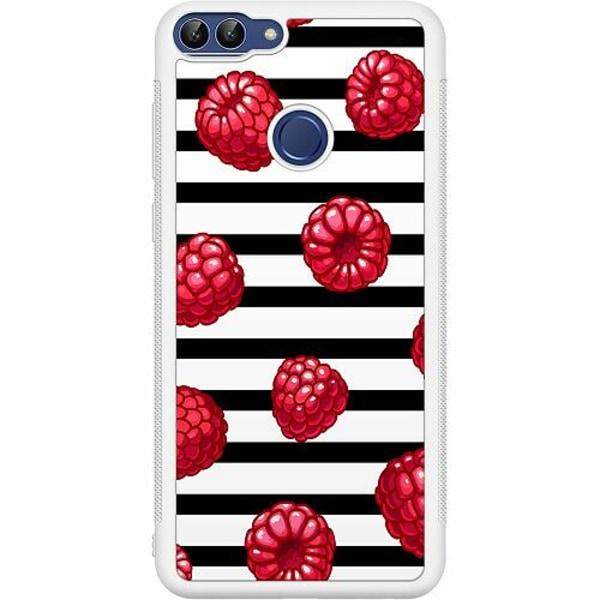 Huawei P Smart (2018) Soft Case (Vit) Raspberries