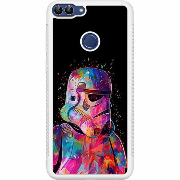 Huawei P Smart (2018) Soft Case (Vit) Star Wars Stormtrooper