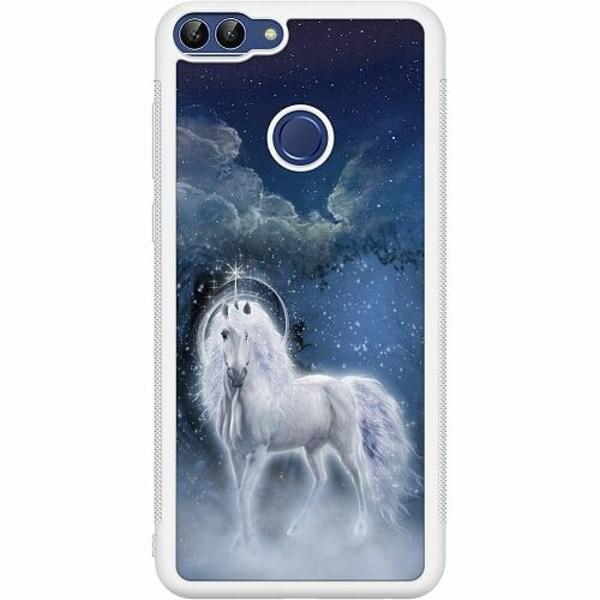 Huawei P Smart (2018) Soft Case (Vit) Unicorn