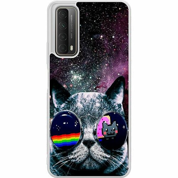 Huawei P Smart (2021) Soft Case (Frostad) Space Cat