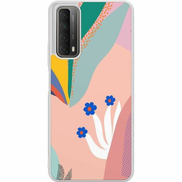 Huawei P Smart (2021) Soft Case (Frostad) Surfs Up, Coral
