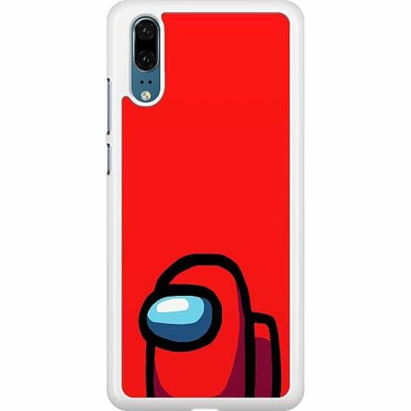 Huawei P20 Hard Case (Vit) Among Us