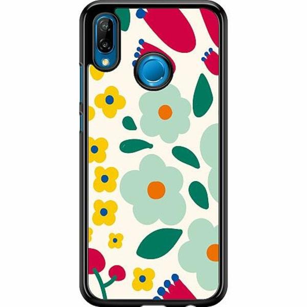 Huawei P20 Lite Hard Case (Svart) Baby Flowers