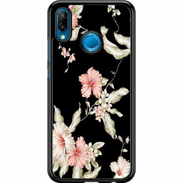 Huawei P20 Lite Hard Case (Svart) Blommor