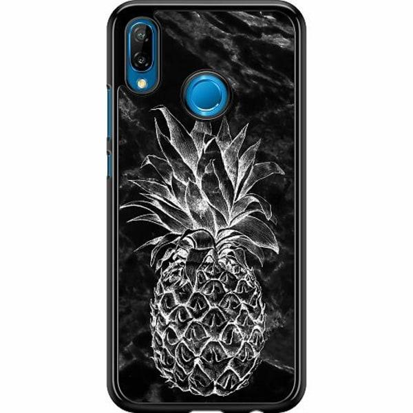 Huawei P20 Lite Hard Case (Svart) Marmor Ananas