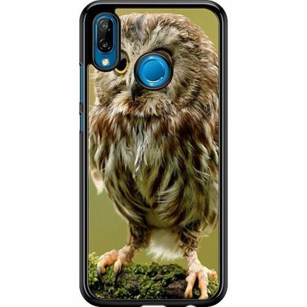 Huawei P20 Lite Hard Case (Svart) Owl
