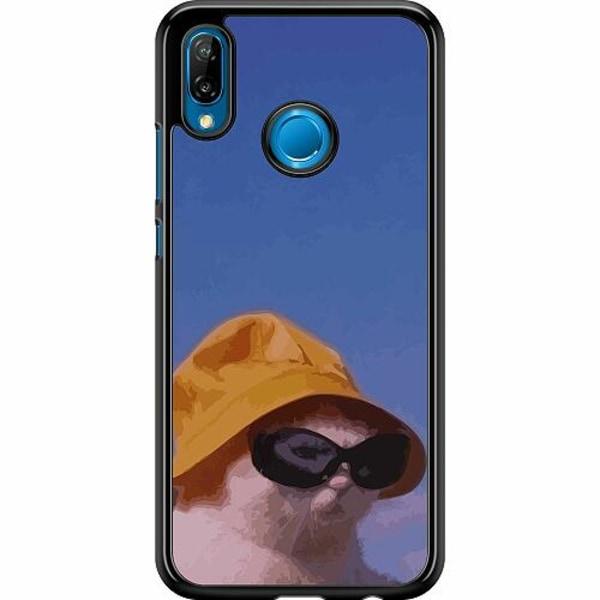 Huawei P20 Lite Hard Case (Svart) Say What, Cat