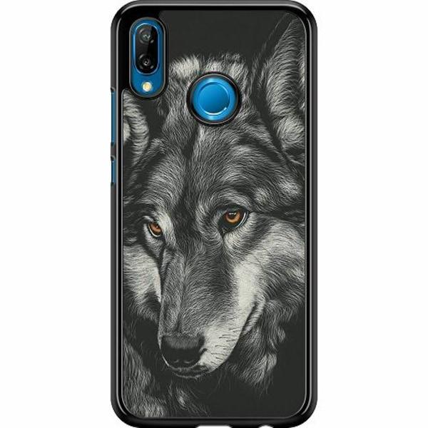Huawei P20 Lite Hard Case (Svart) Wolf / Varg