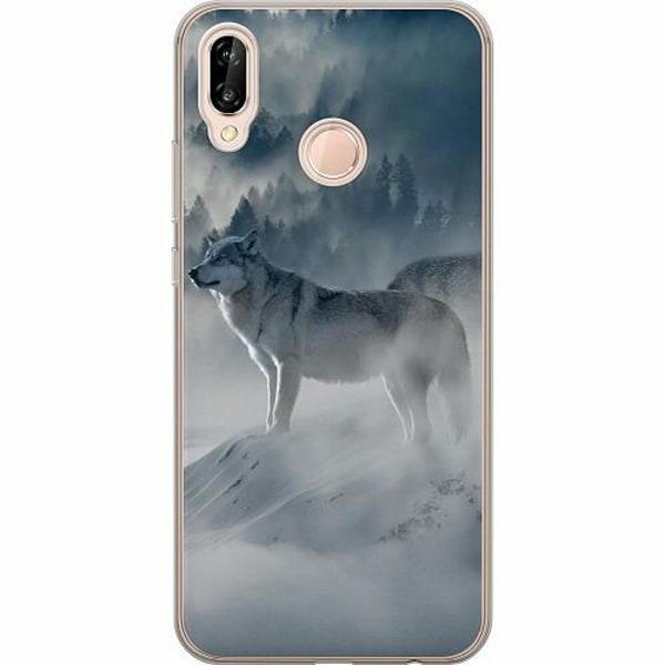 Huawei P20 Lite TPU Mobilskal Wolf / Varg