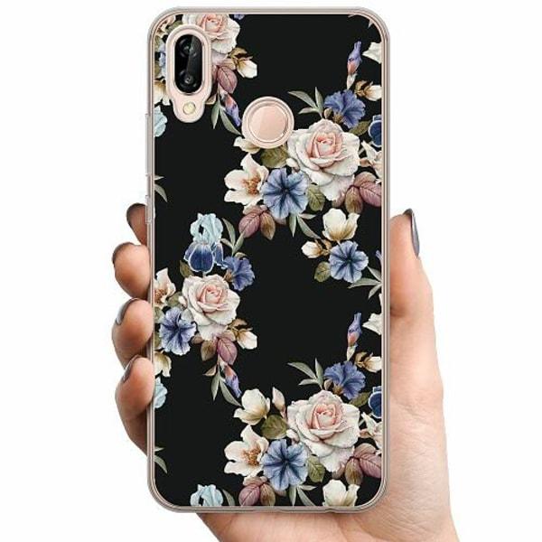 Huawei P20 Lite TPU Mobilskal Blommor