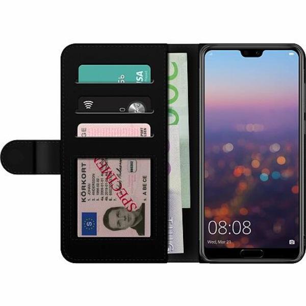 Huawei P20 Pro Billigt Fodral Blommor