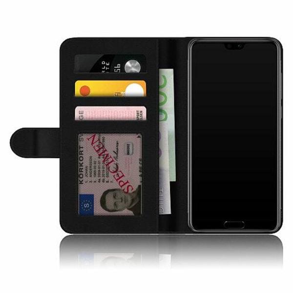 Huawei P20 Pro Fodralskal Flower on LCD
