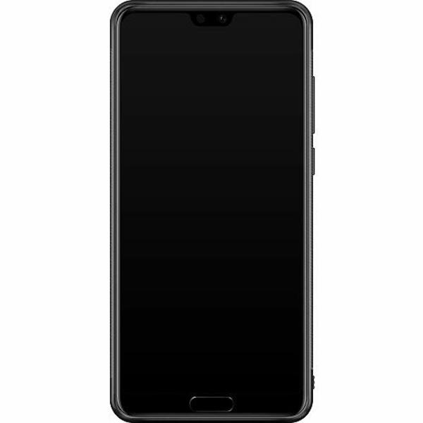 Huawei P20 Pro Soft Case (Svart) Bokstäver