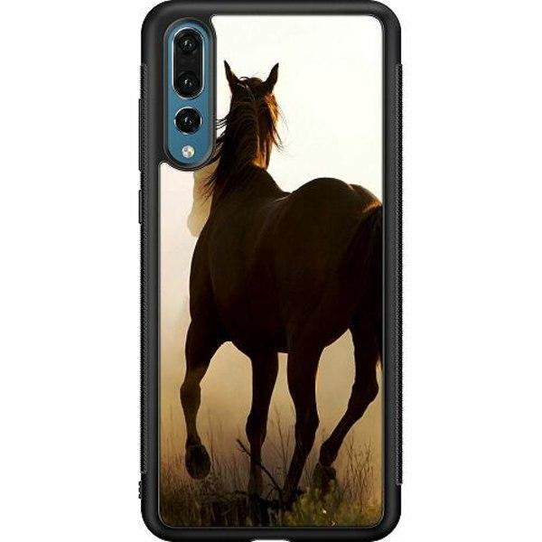 Huawei P20 Pro Soft Case (Svart) Häst / Horse