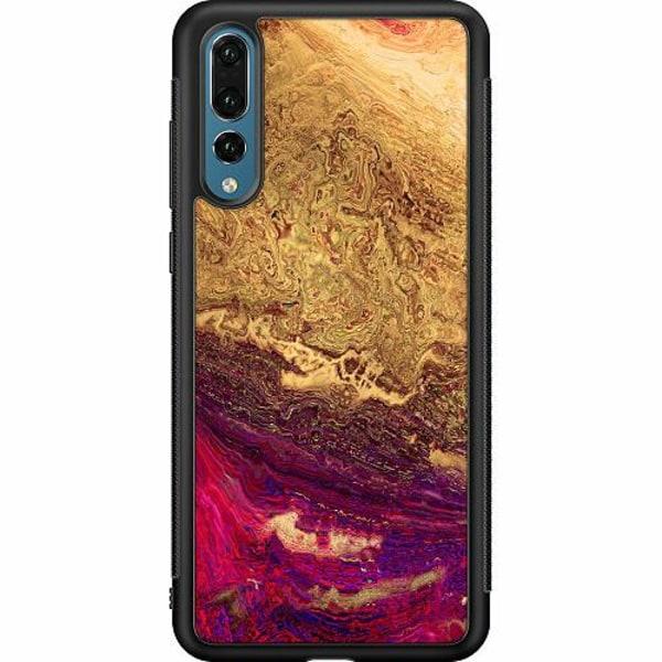 Huawei P20 Pro Soft Case (Svart) Pattern