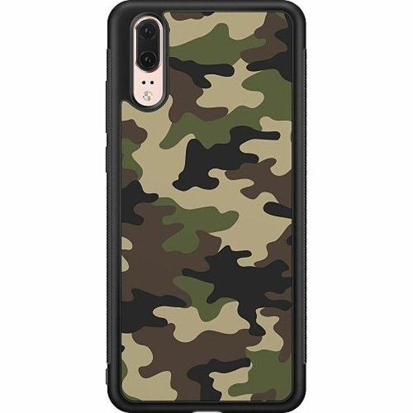Huawei P20 Soft Case (Svart) Militär