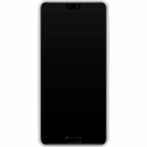 Huawei P20 Soft Case (Vit) Döskalle