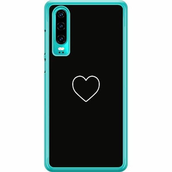 Huawei P30 Hard Case (Transparent) Hjärta